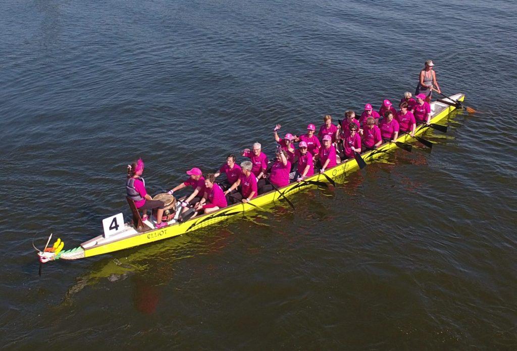 Die Siegerinnen beim Bremer Drachenboot-Cup über 2.000m